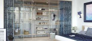 Узкая гардеробная: преимущества, идеи обустройства и фото