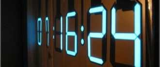 Электронные светящиеся настенные часы: какие бывают и как выбрать?